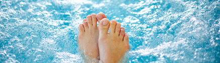 Füße im Whirlpool