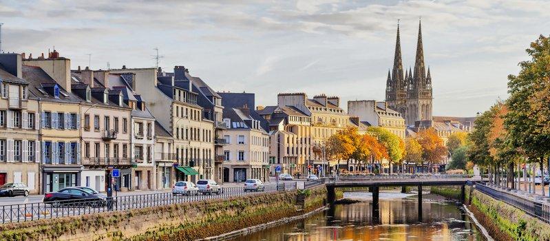Stadt-Bild von Quimper, Bretagne